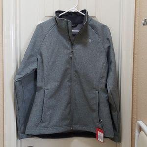 NorthFace gray Windwall coat